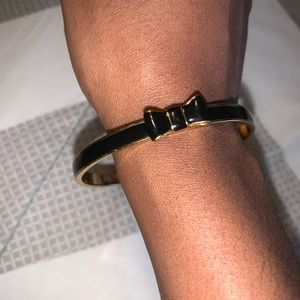 Kate Spade Black and Gold Bangle Bracelet